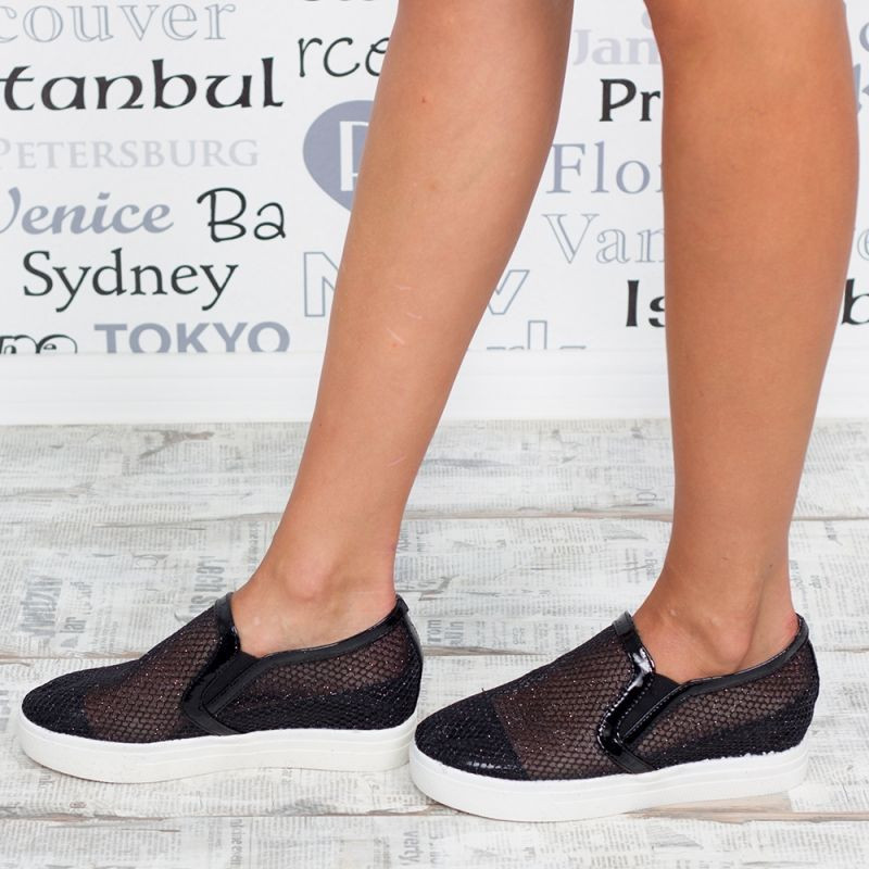 "Espadrile ""MireaFashion"" Cod: G-16 Black (P6)"