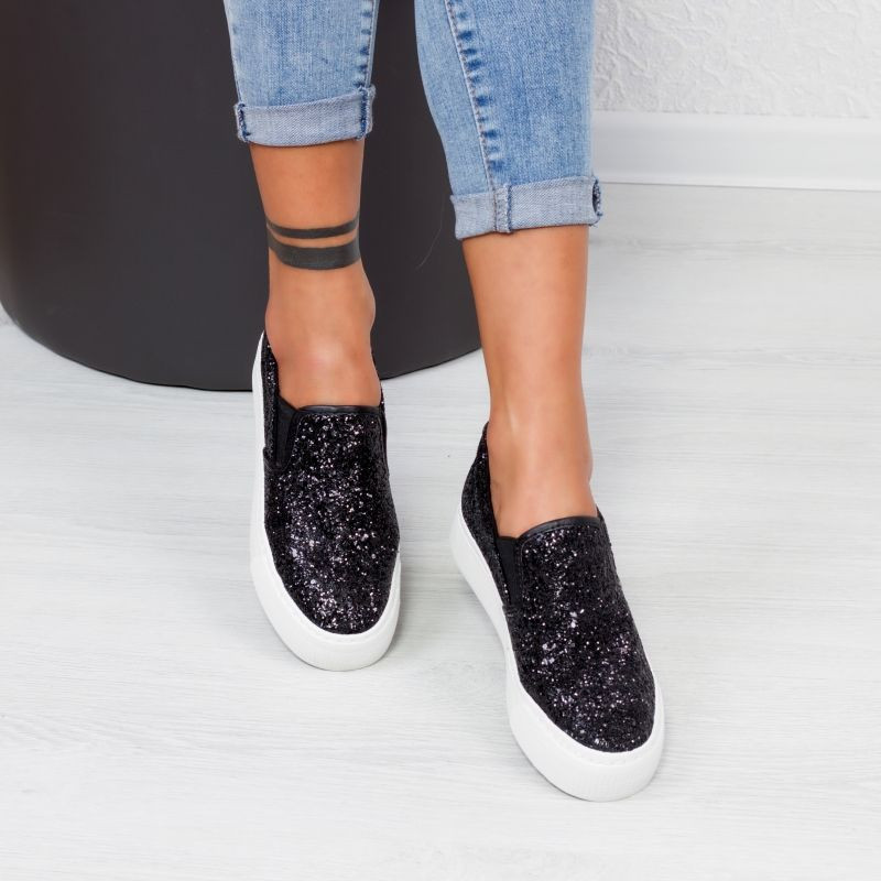"Espadrile ""MireaFashion"" Cod: Q602 Black (AA35)"