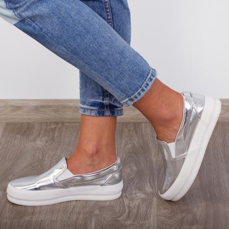 "Espadrile ""MireaFashion"" Cod: R-200 Silver (NN5)"