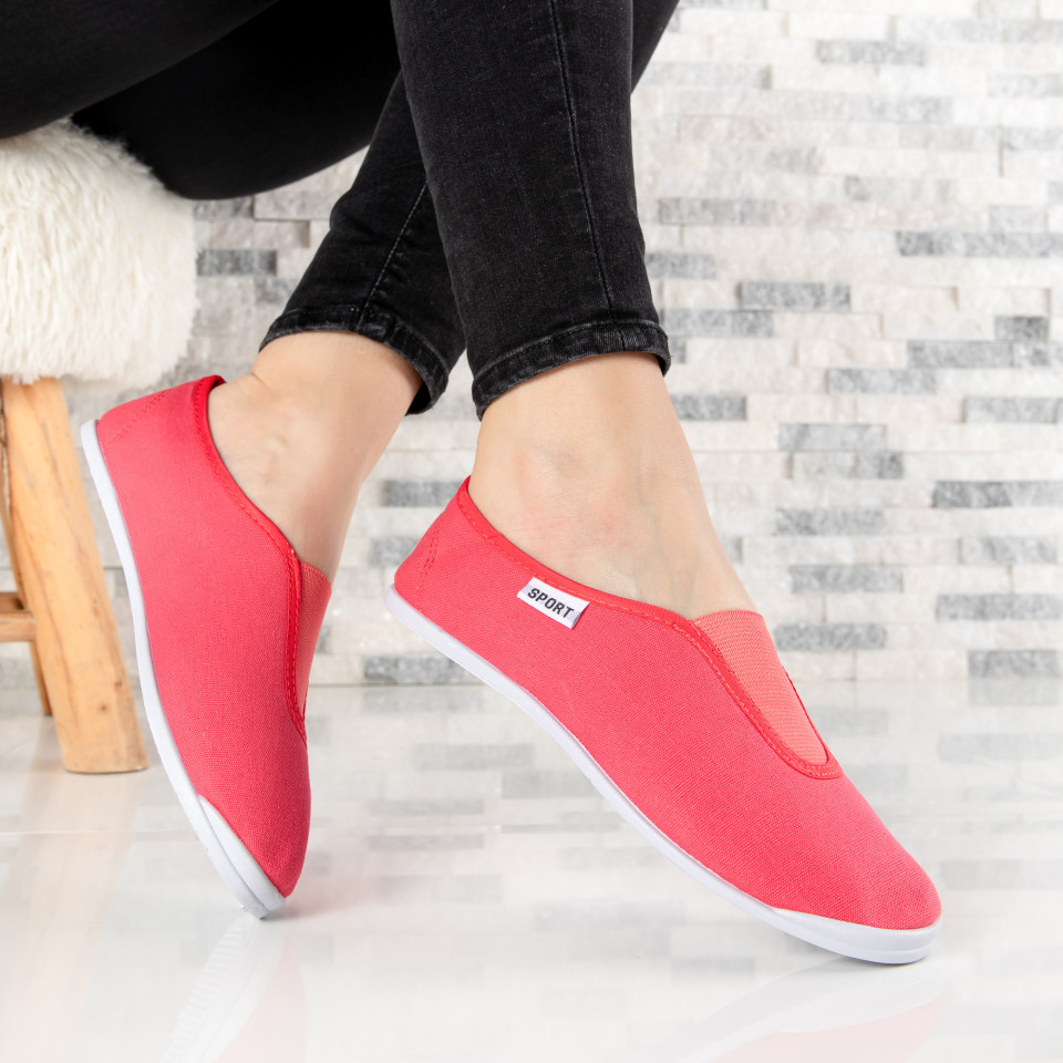 "Espadrile ""MireaFashion"" Cod: T102 WM RED (i1)"