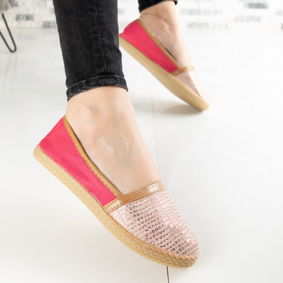 "Espadrile ""MireaFashion"" Cod: ZJ-20 WATERMELON RED (Q11)"