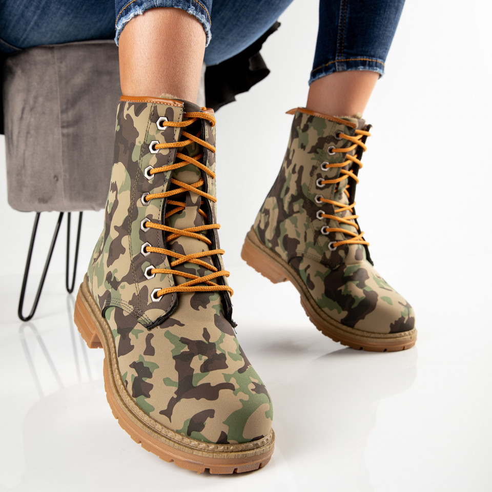 "Ghete ""MireaFashion"" Cod: MB-604 CAMOUFLAGE (B9)"