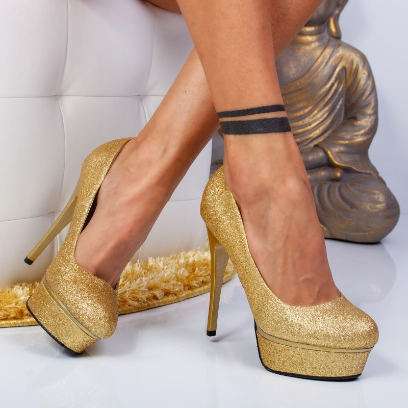 "Pantofi ""MireaFashion"" Cod: YES3478 L.GOLD (M 9-13)"
