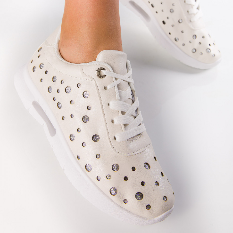 "Pantofi Sport ""MireaFashion"" Cod: ABC-278 WHITE (D14)"
