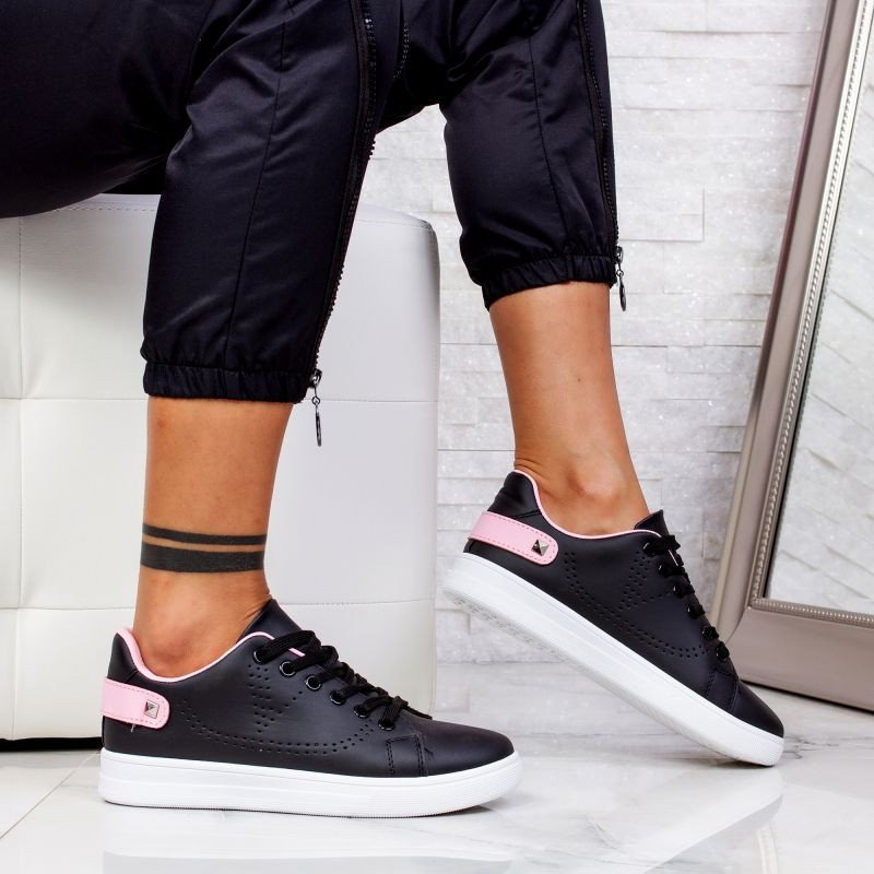 "Pantofi Sport ""MireaFashion"" Cod: J1827 BLACK/PINK (AA33)"