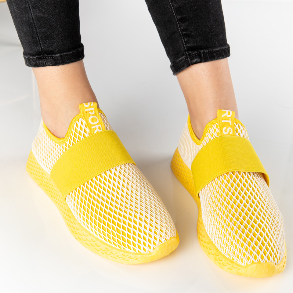 "Pantofi sport""MireaFashion"" Cod: NB351-6 YELLOW (Q6-7)"