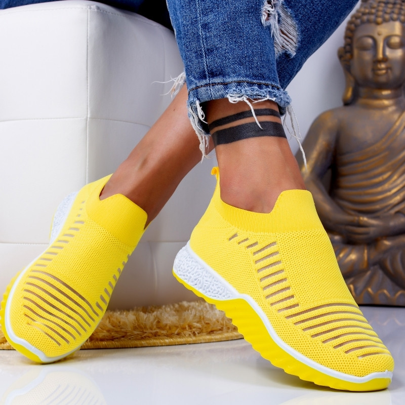 "Pantofi Sport ""MireaFashion"" Cod: ZA-16 YELLOW (G10)"