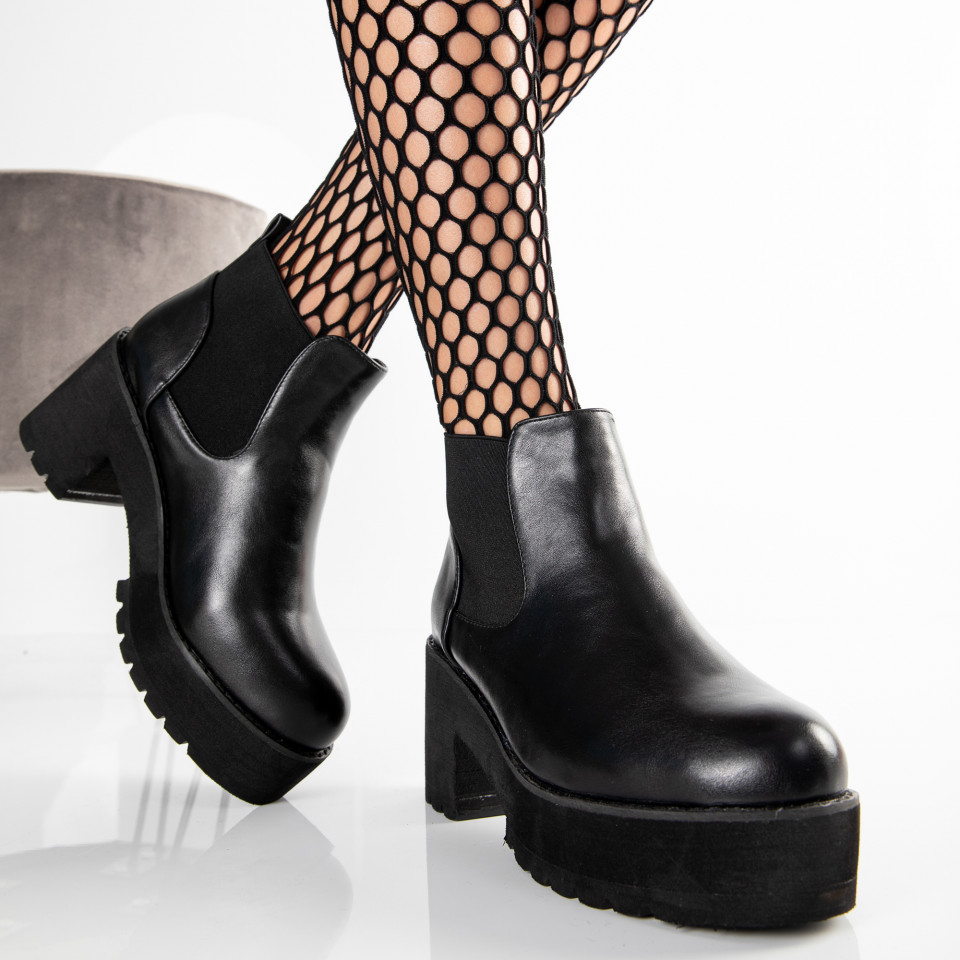 "Botine ""MireaFashion"" Cod: 9303 BLACK (O7)"