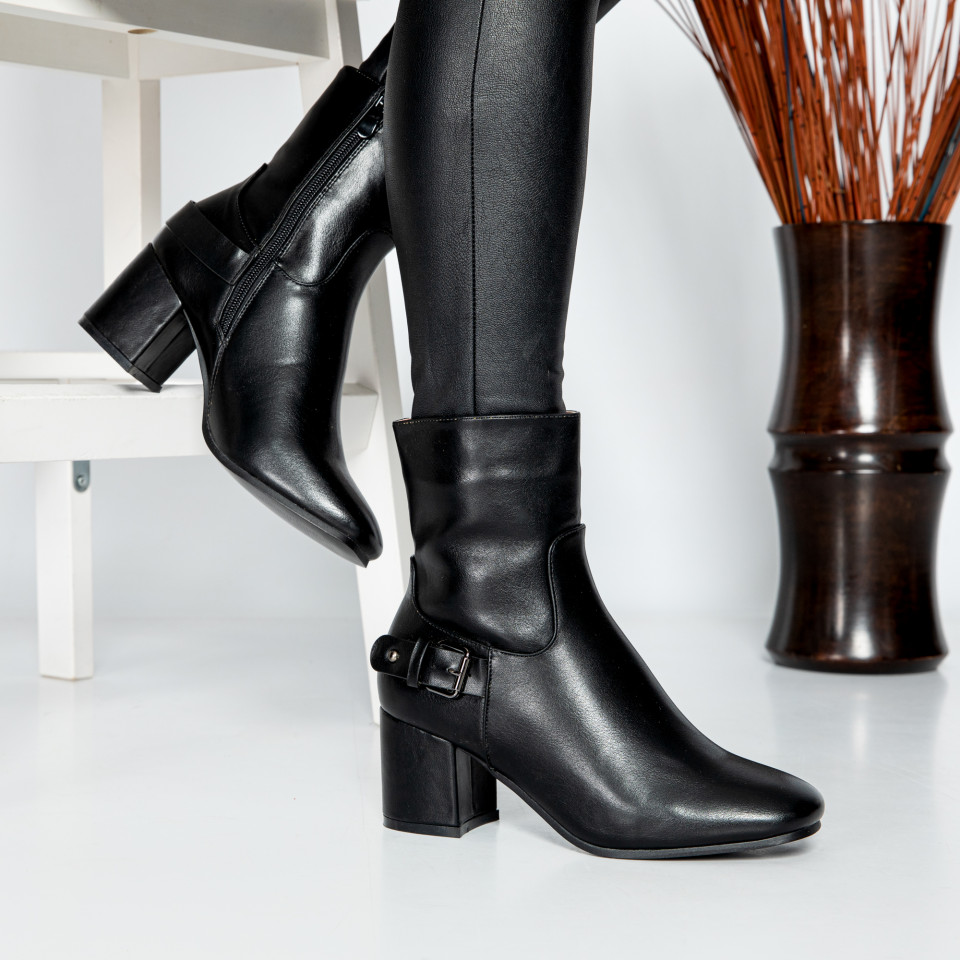 "Botine ""MireaFashion"" cod: SH838 BLACK (CC1)"