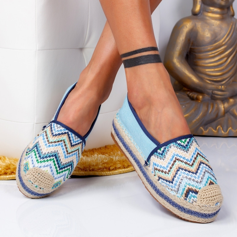 "Espadrile ""MireaFashion"" Cod: 00017 BLUE (B5)"