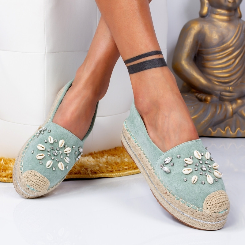 "Espadrile ""MireaFashion"" Cod: 00105 L. GREEN (C7)"
