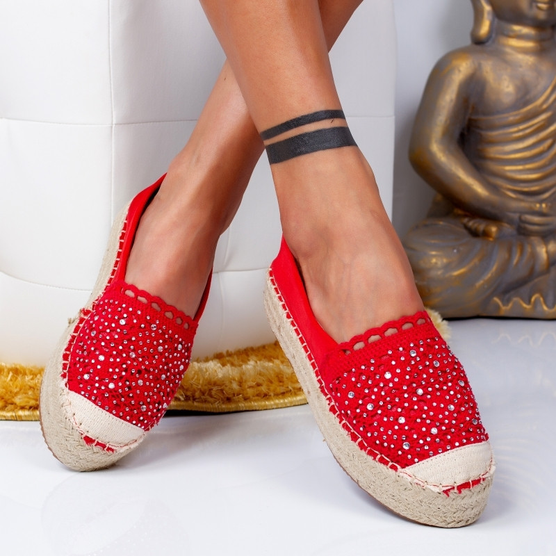 "Espadrile ""MireaFashion"" Cod: 00680 RED (HH4)"