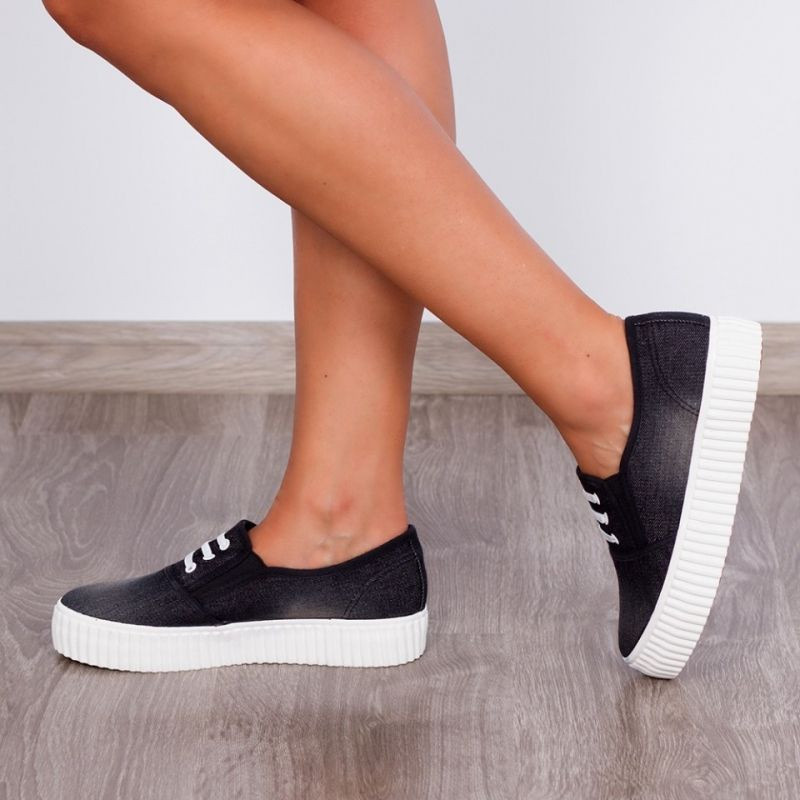 "Espadrile ""MireaFashion"" Cod: 161 Black (BB2)"