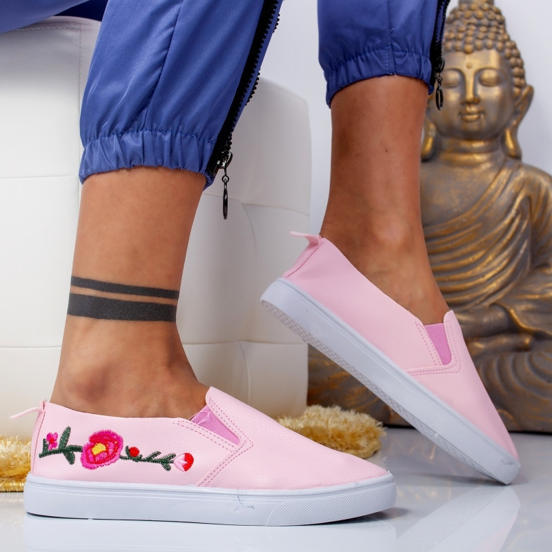 "Espadrile ""MireaFashion"" Cod: E-53 PINK (S11)"