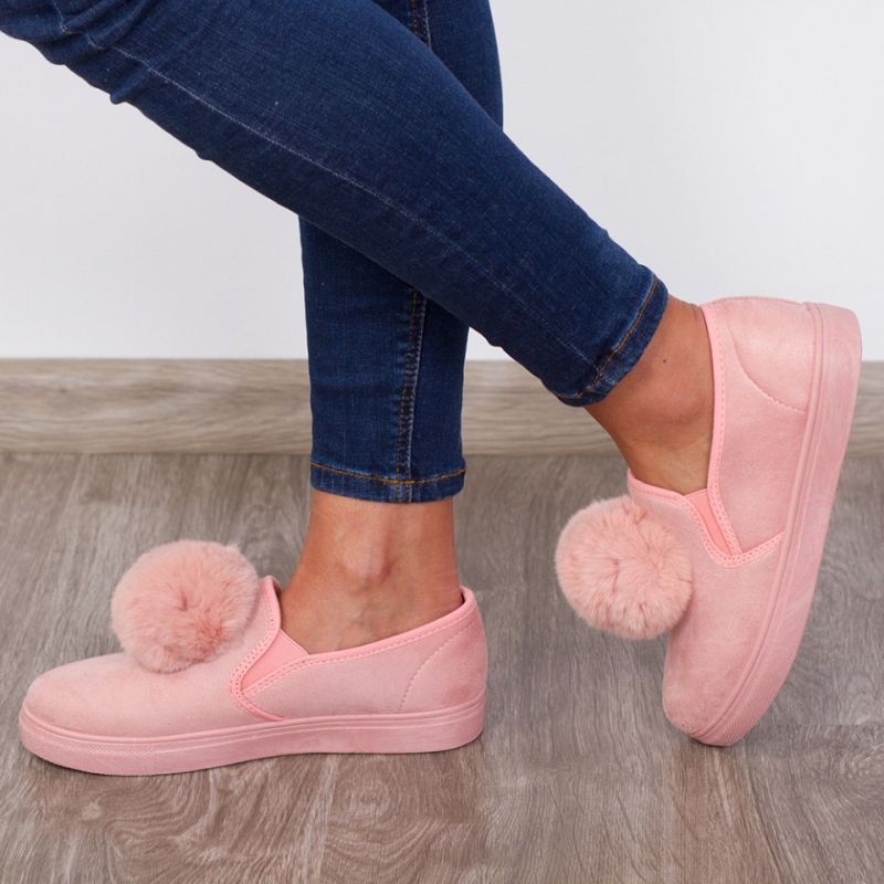 "Espadrile ""MireaFashion"" Cod: W7682-4 Pink (QQ4)"