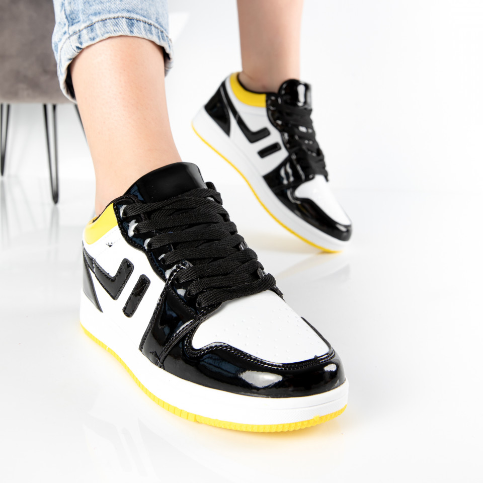 "Pantofi Sport ""MireaFashion"" Cod: 71 BLACK/YELLOW (M5)"