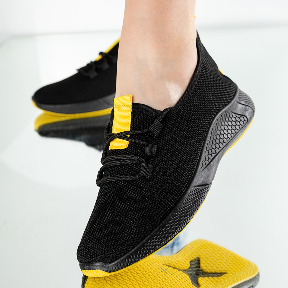 "Pantofi Sport ""MireaFashion"" Cod: 781-2 BLACK/YELLOW"