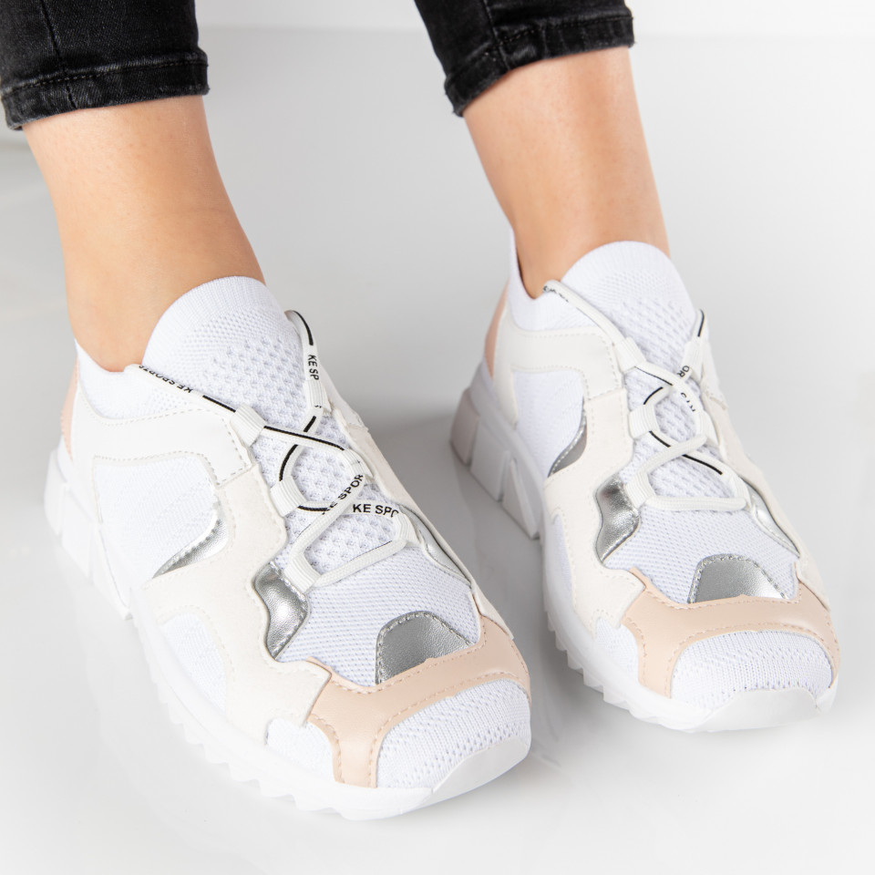 "Pantofi sport ""MireaFashion"" Cod: 810817-2 WHITE (S9-10)"