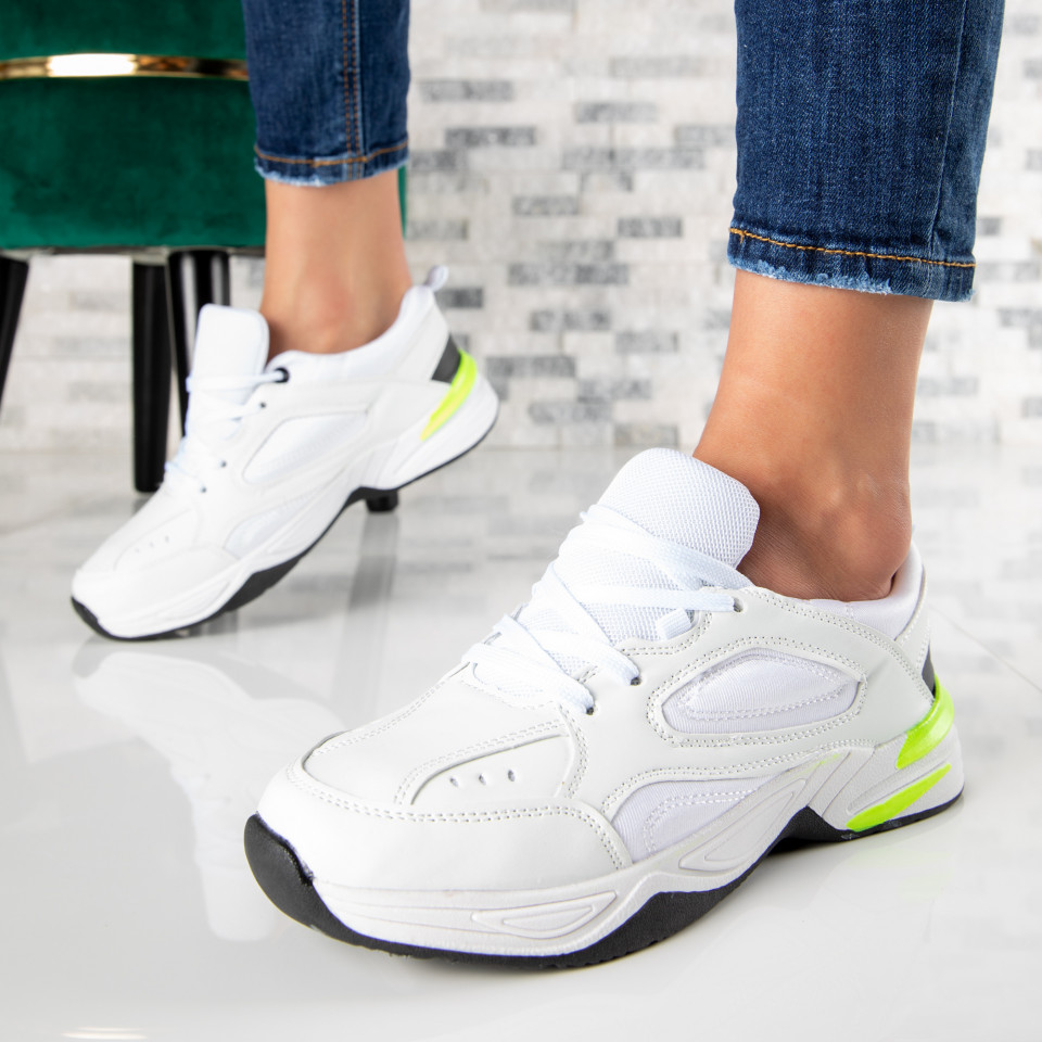 "Pantofi Sport ""MireaFashion"" Cod: A-05 WHITE (S13)"