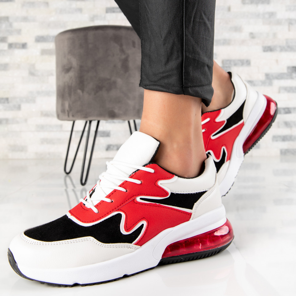 "Pantofi Sport ""MireaFashion"" Cod: AB5643 BLACK/RED (Q16)"