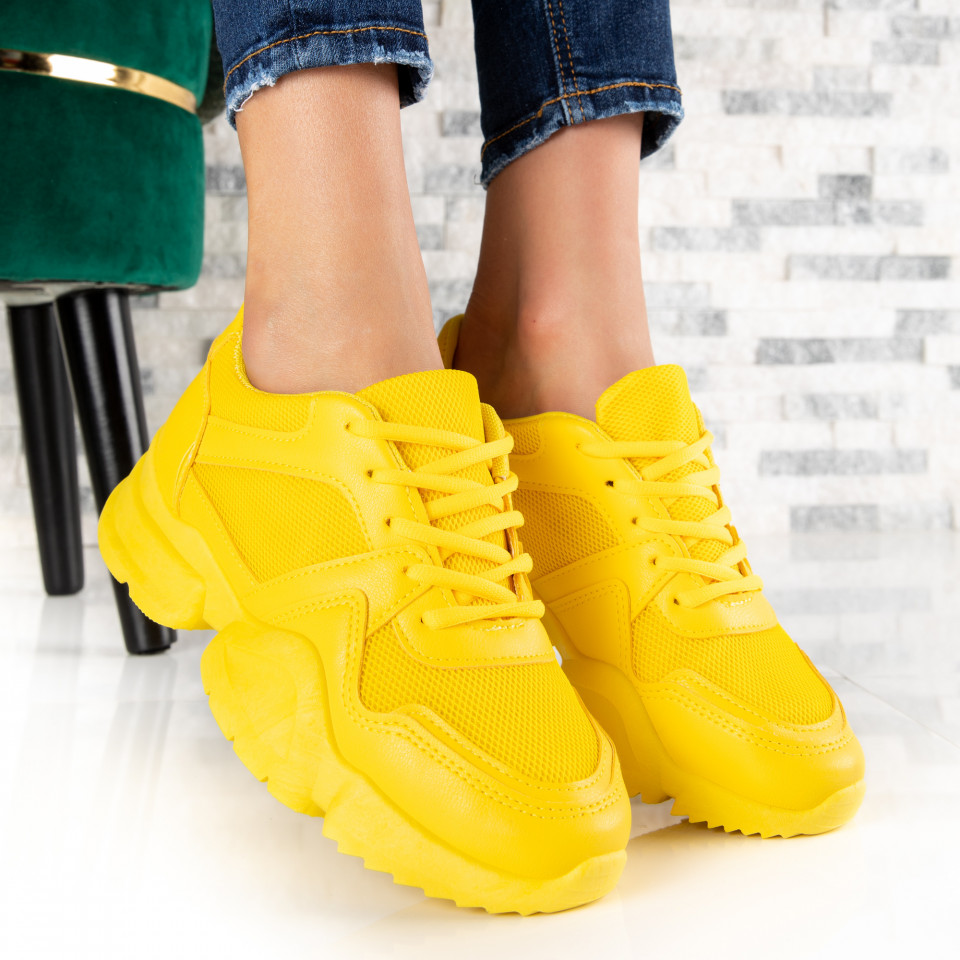 "Pantofi Sport ""MireaFashion"" Cod: B02 YELLOW (Q12)"