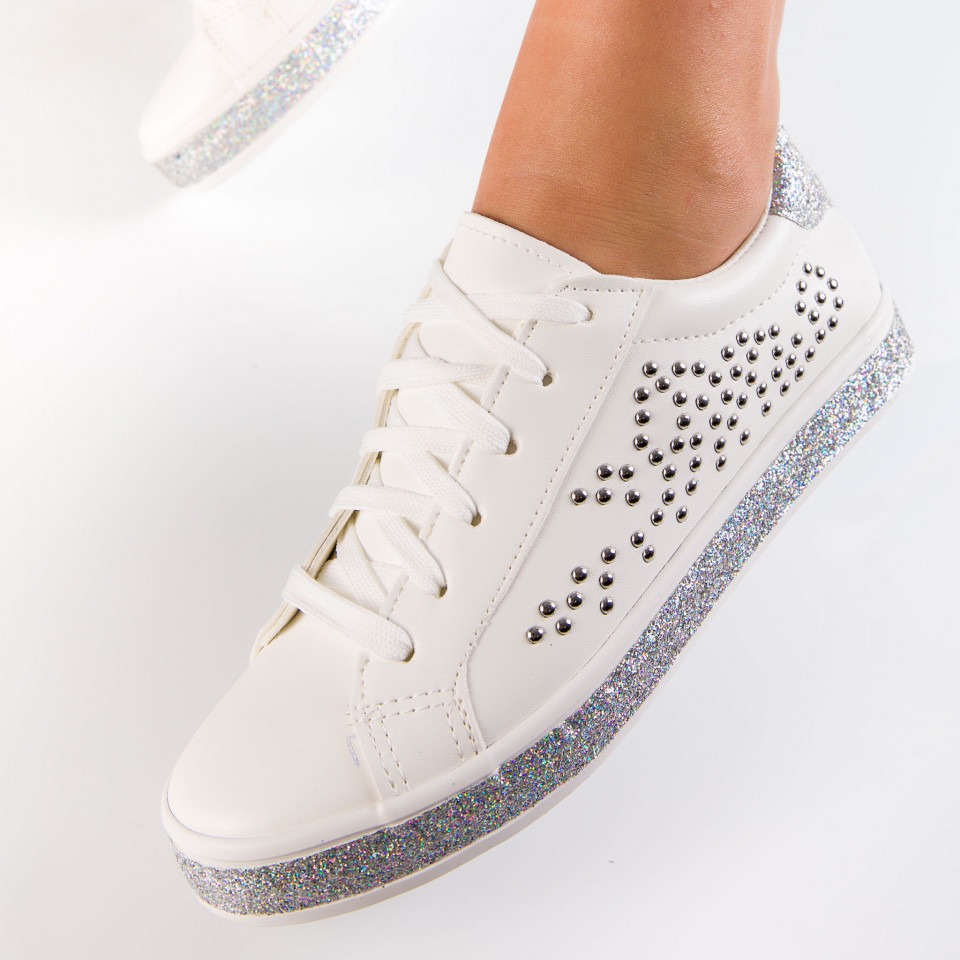 "Pantofi Sport ""MireaFashion"" Cod: CD27302 WHITE (F2)"