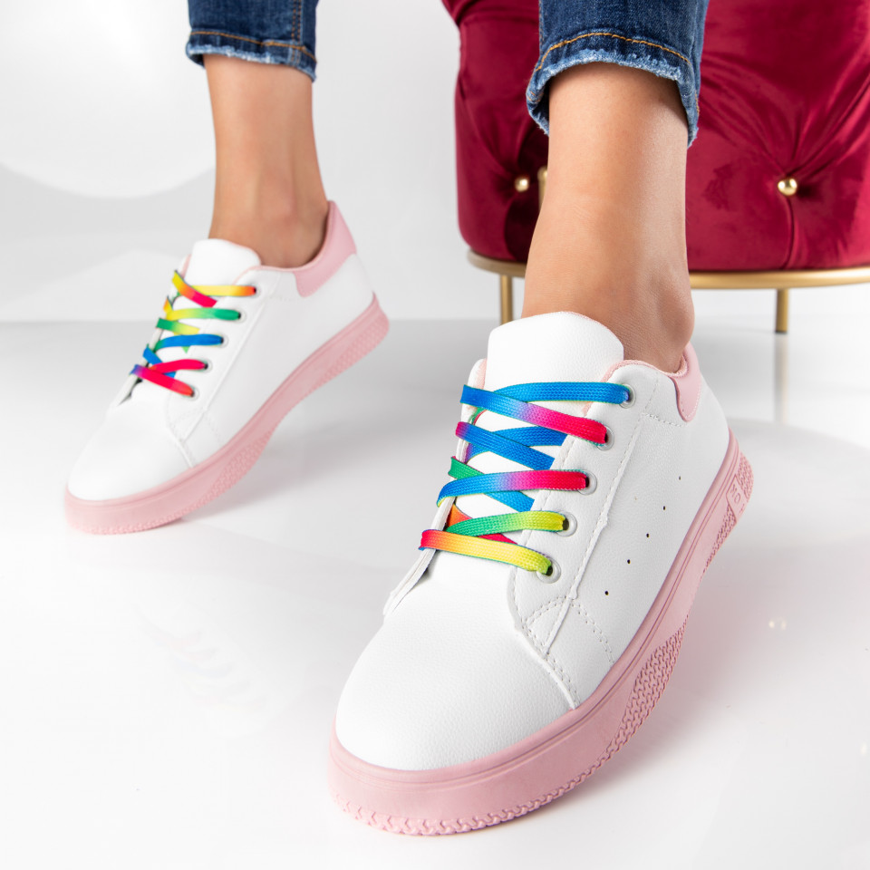 "Pantofi Sport ""MireaFashion"" Cod: HQ-005-20 WHITE/PINK (S14)"