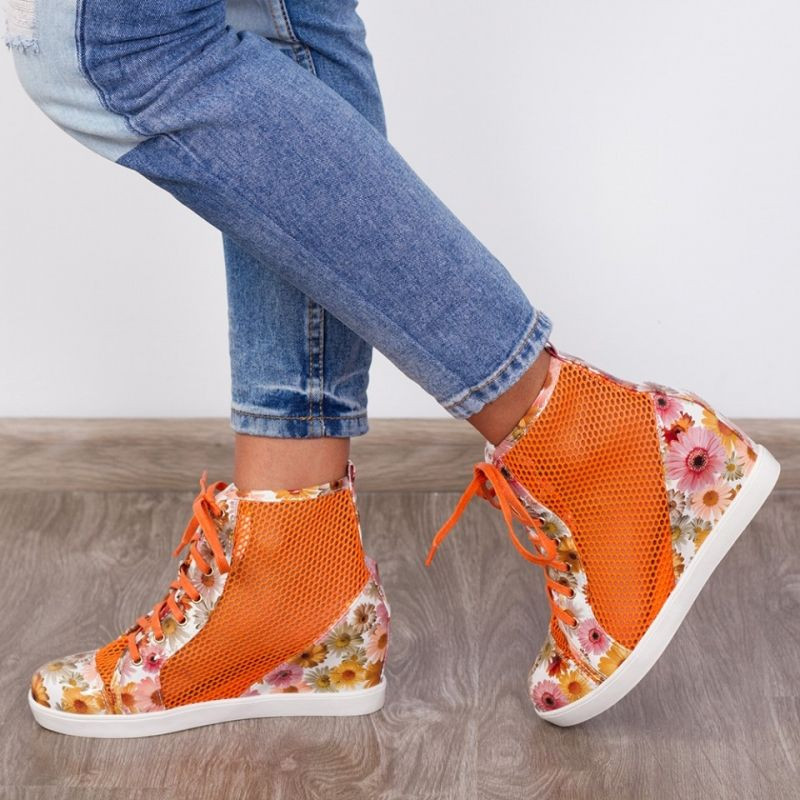 "Sneakers ""MireaFashion"" Cod: 90037-1 Orange (E 4)"