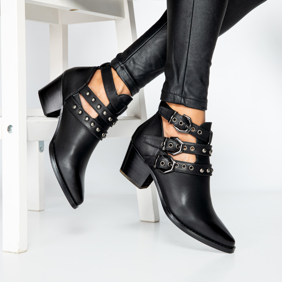 "Botine ""MireaFashion"" cod: 9476 BLACK (J6)"