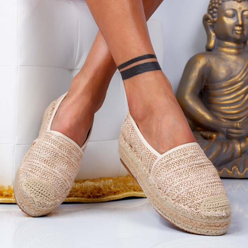 "Espadrile ""MireaFashion"" Cod: 00016 BEIGE (P13)"