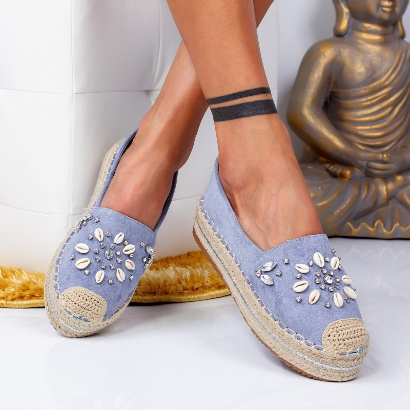 "Espadrile ""MireaFashion"" Cod: 00105 BLUE (R5)"