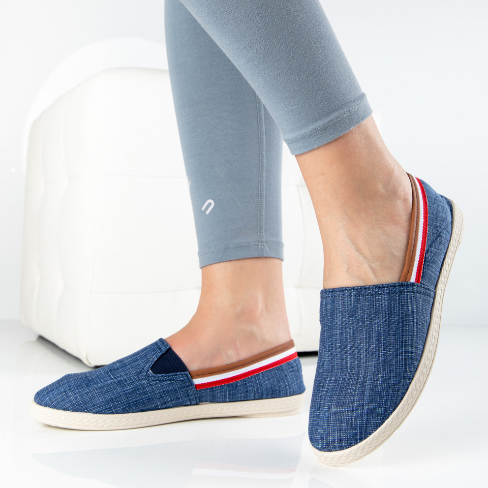 "Espadrile ""MireaFashion"" Cod: 347 NAVY (R4)"