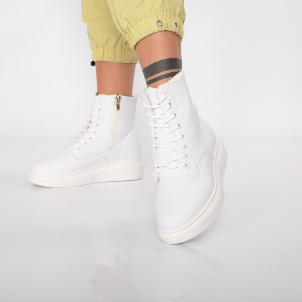 "Ghete ""MireaFashion"" cod: 932 WHITE (P8)"