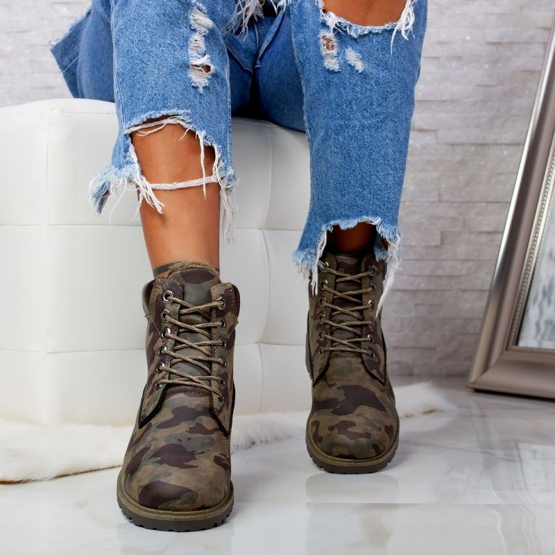 "Ghete ""MireaFashion"" Cod: AB5629 CAMOUFLAGE (D9-10)"