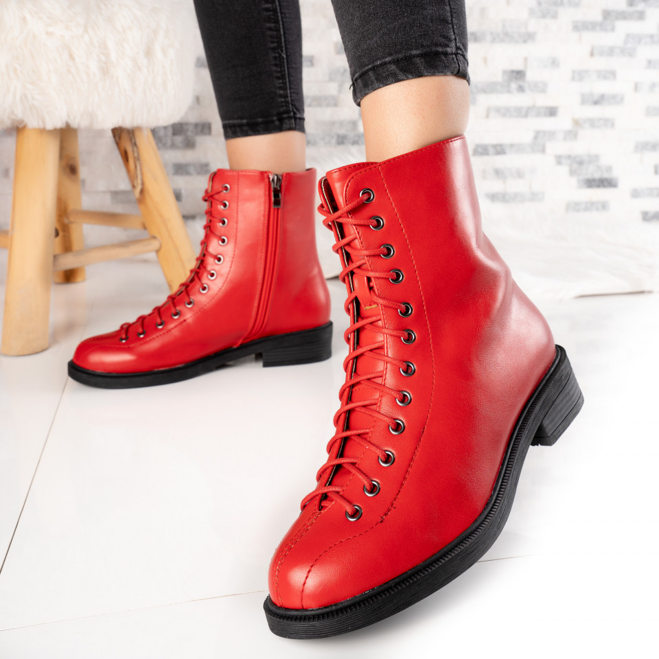 "Ghete ""MireaFashion"" Cod: FB0012 RED (P14)"