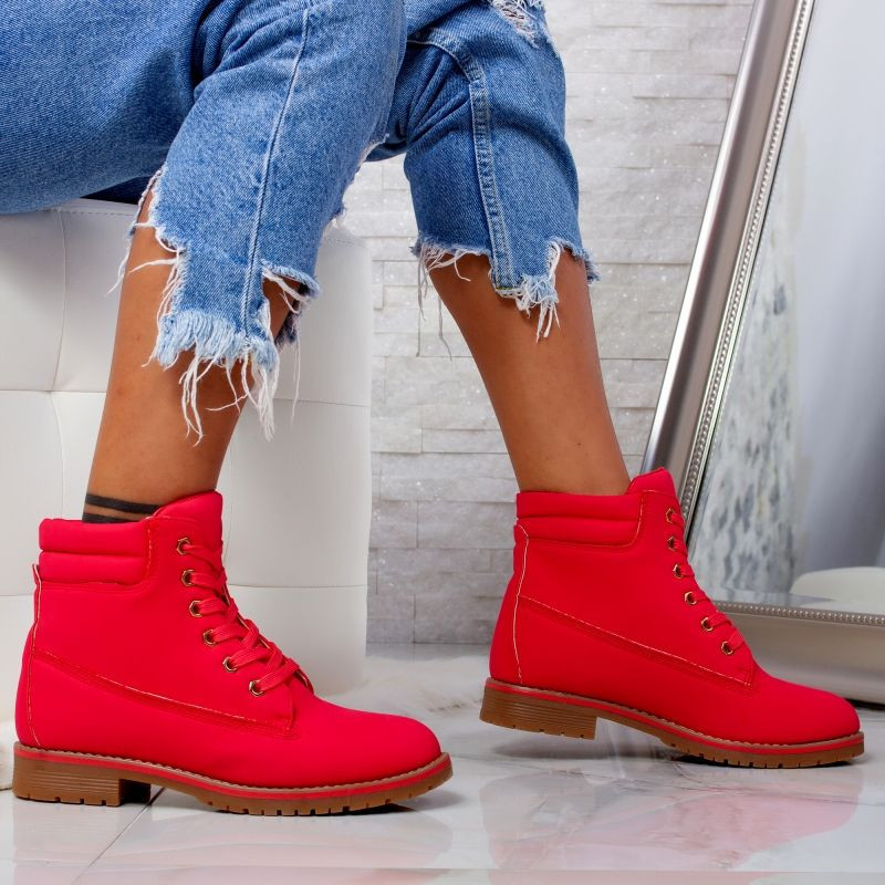 "Ghete ""MireaFashion"" Cod: LT918-4 RED (O16)"