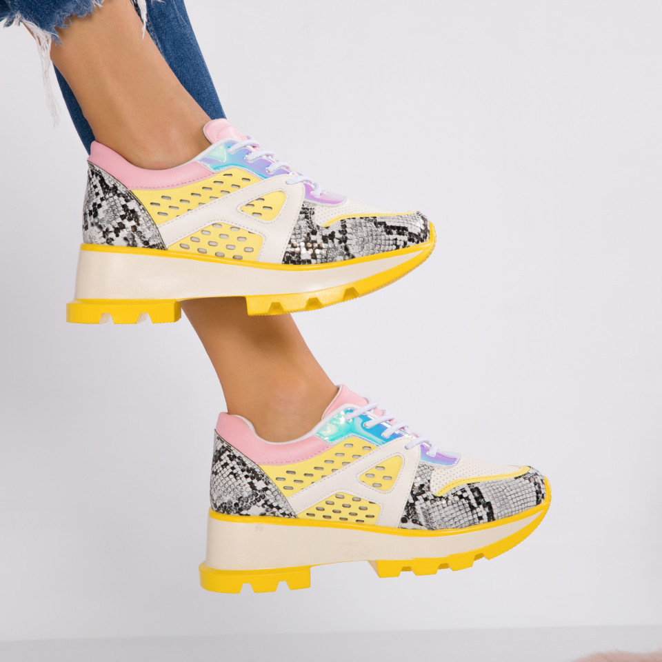 "Pantofi Sport ""MireaFashion"" Cod: 00211 YELLOW (SS1)"