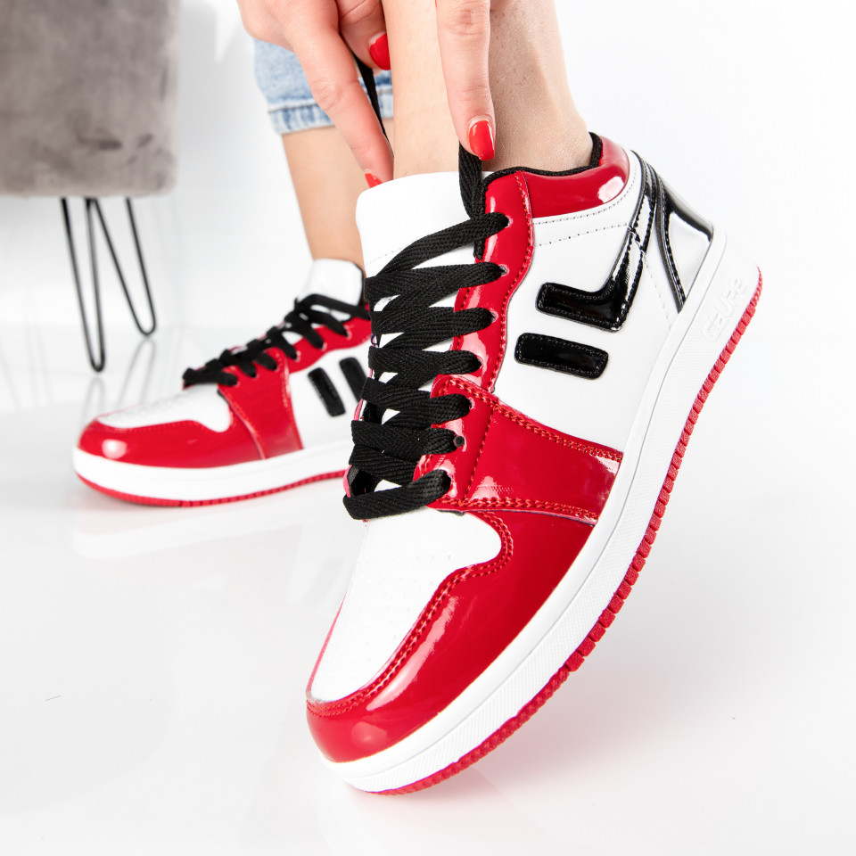 "Pantofi Sport ""MireaFashion"" Cod: 71 BLACK/RED (J17)"
