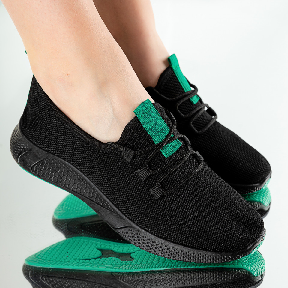 "Pantofi Sport ""MireaFashion"" Cod: 781-2 BLACK/GREEN"
