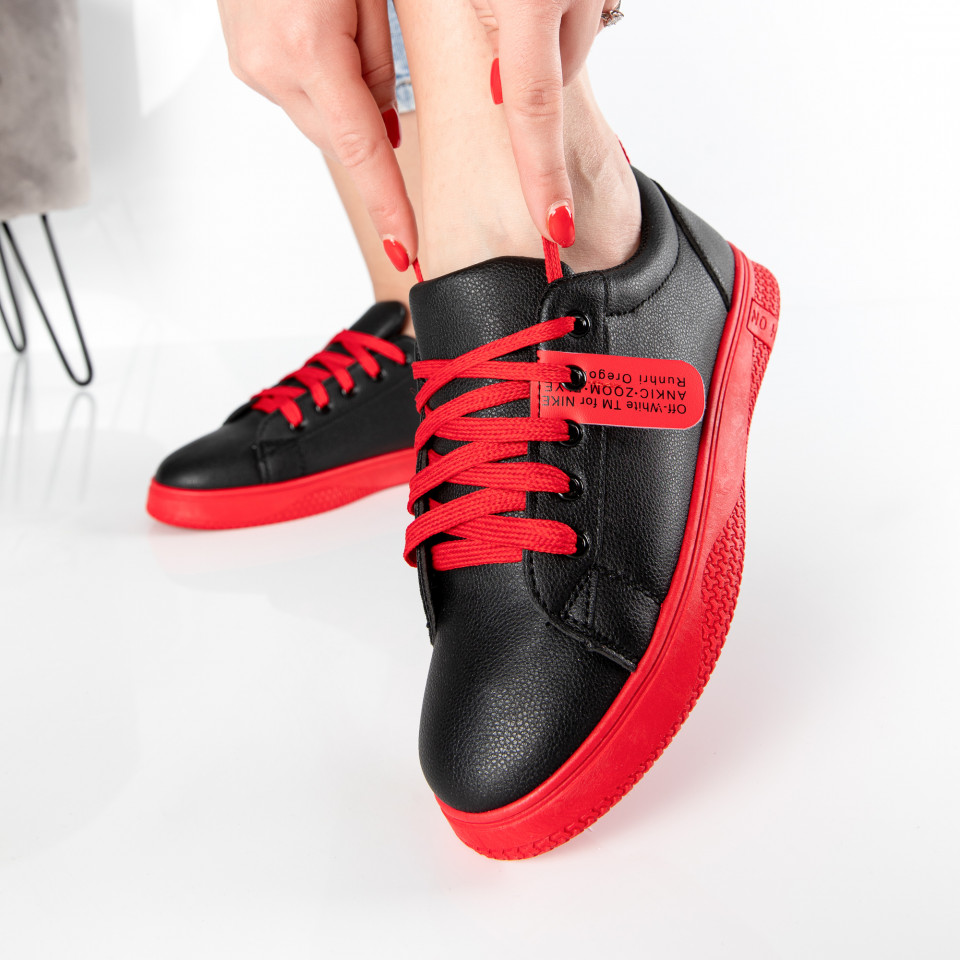 "Pantofi sport""MireaFashion"" Cod: HQ-007-34 BLACK/RED (L15)"