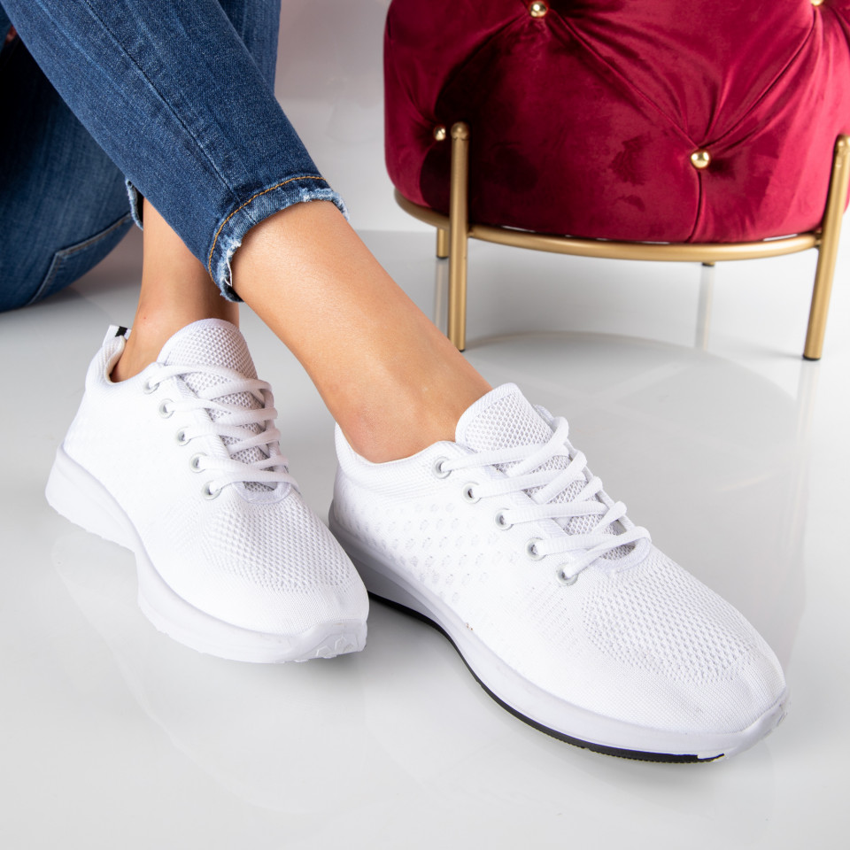 "Pantofi Sport ""MireaFashion"" Cod: HQ777 ALL WHITE (i6)"