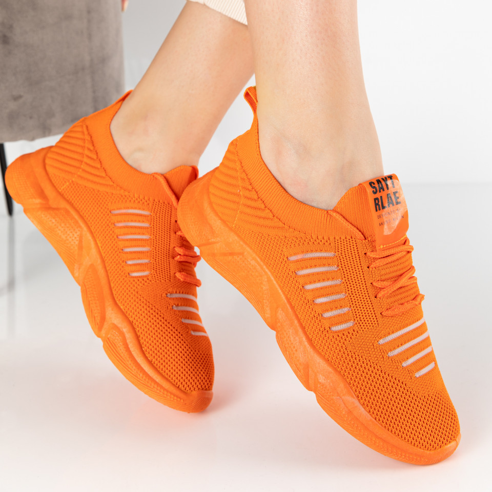 "Pantofi Sport ""MireaFashion"" Cod: NF11 ORANGE (K1)"