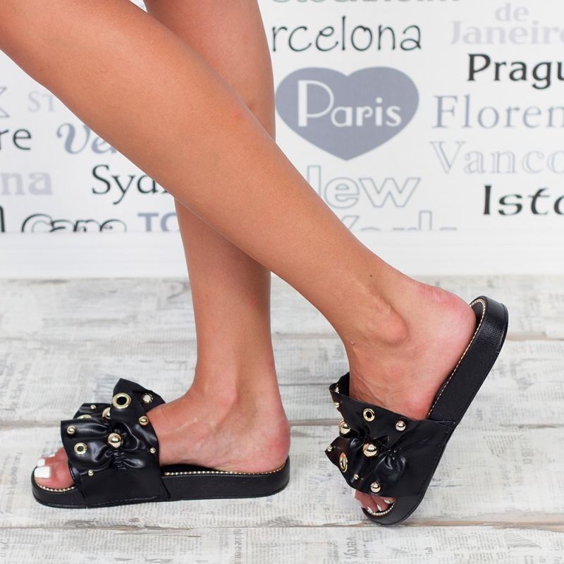 "Papuci ""MireaFashion"" Cod: WS9201 BLACK (Q14)"