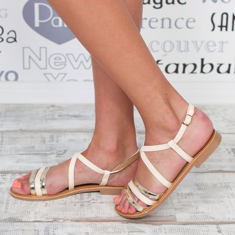 "Sandale ""MireaFashion"" Cod: F-03 BEIGE (S2)"