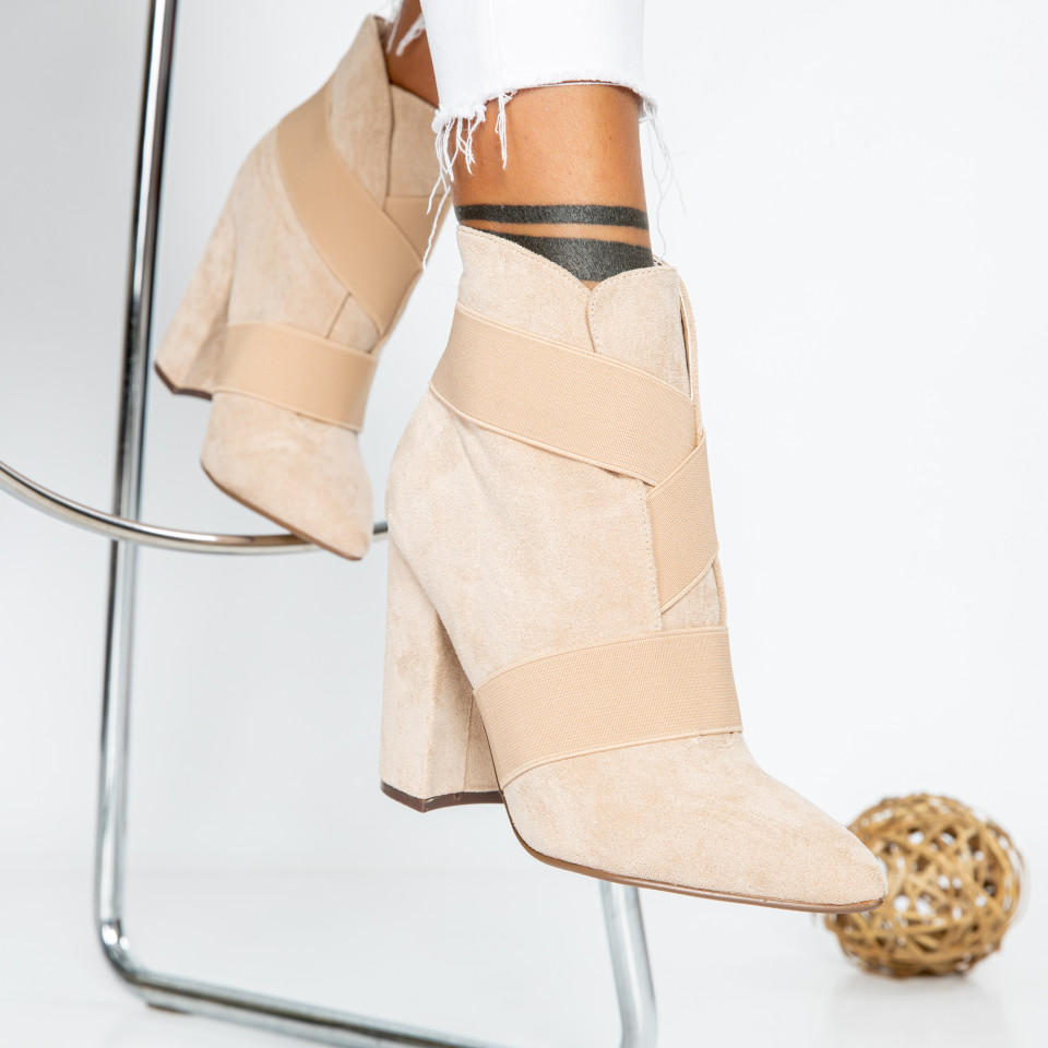 "Botine ""MireaFashion"" cod: 2C1AX5208-03 BEIGE (L1)"