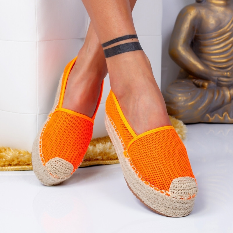 "Espadrile ""MireaFashion"" Cod: 00121 ORANGE (AA10)"