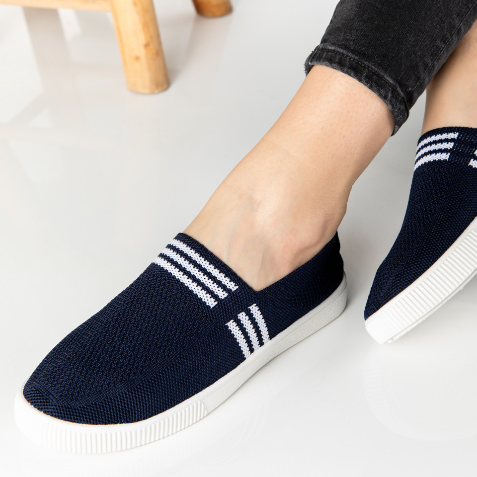 "Espadrile ""MireaFashion"" Cod: 196-1 NAVY (K15)"