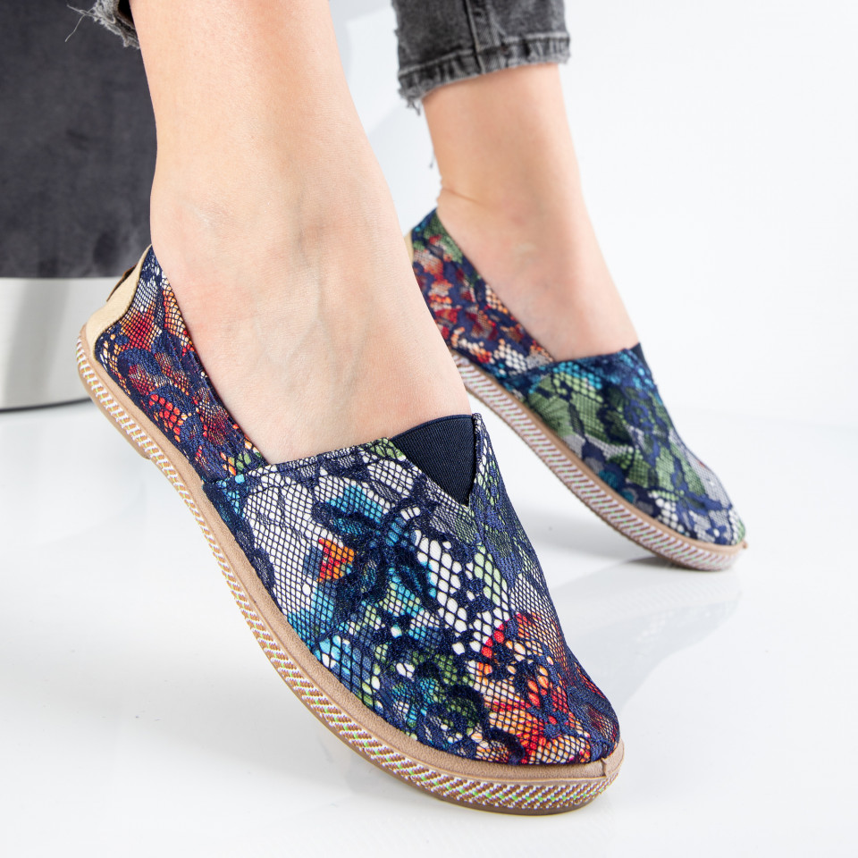 "Espadrile ""MireaFashion"" Cod: 316 BLUE (G14)"