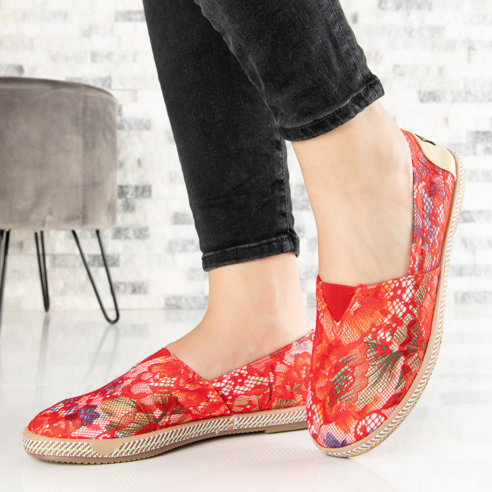 "Espadrile ""MireaFashion"" Cod: 316 RED (E14)"