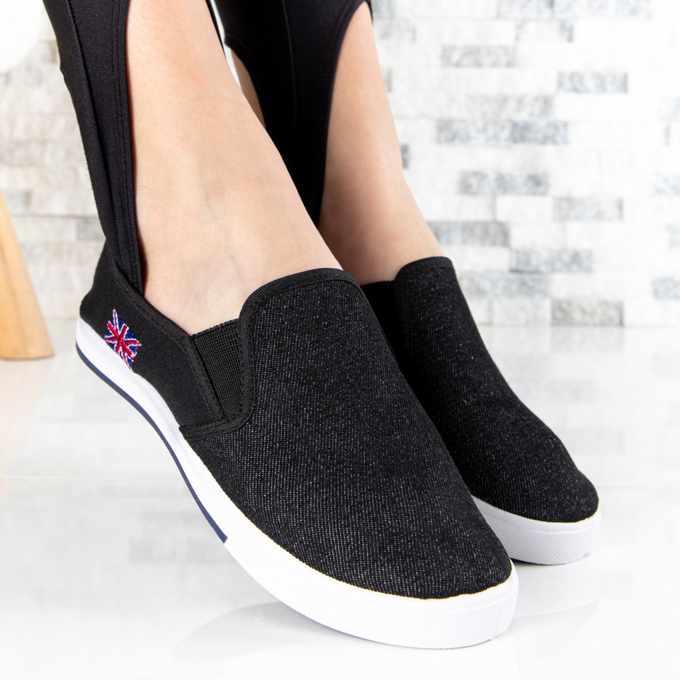 "Espadrile ""MireaFashion"" Cod: 336 BLACK (P15)"